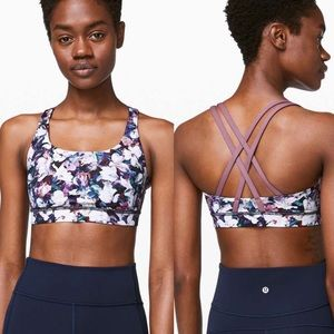 Lululemon energy bra utopia multi vintage plum
